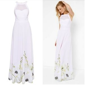 🍒NWT🍒 TED BAKER PEARLY PETAL MAXI DRESS